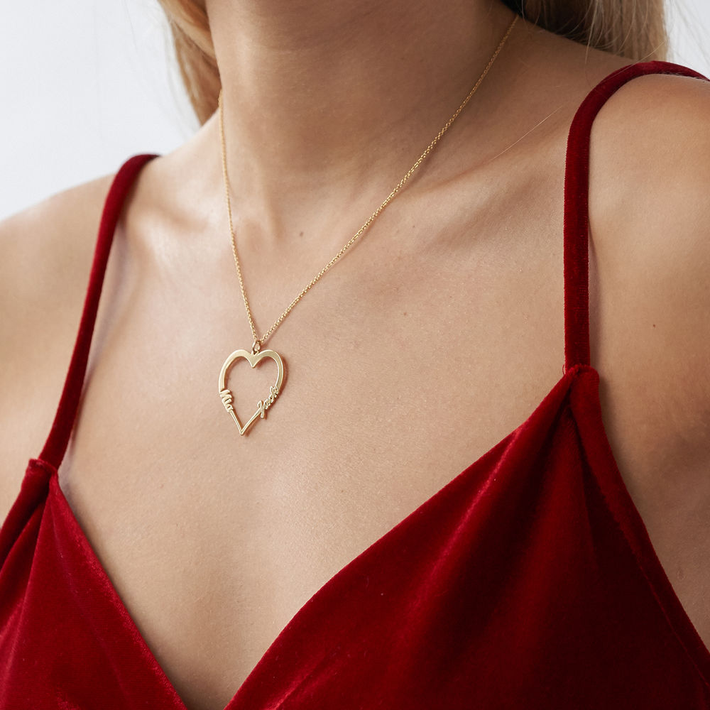 18k Gold Plated Heart Necklace - 2