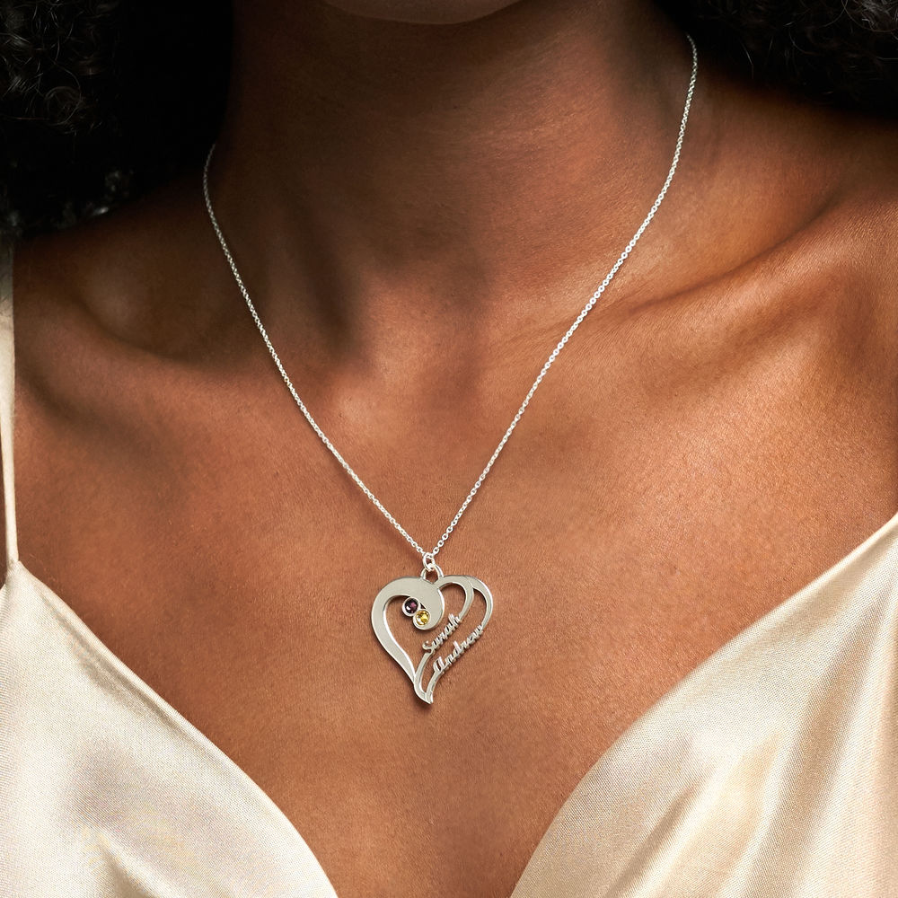 Two Hearts Forever One Necklace in 940 Premium Silver - 2