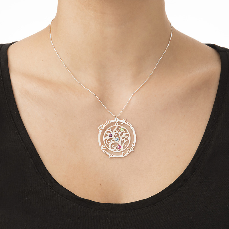 Birthstone Family Tree Necklace - 2