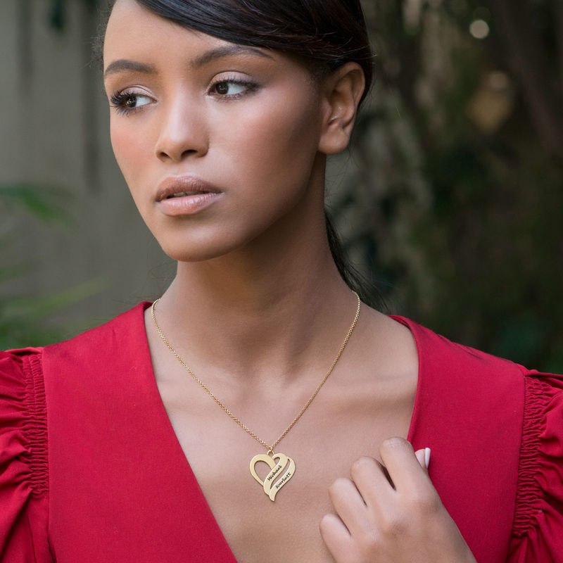 Two Hearts Forever One Necklace in 18k Gold Vermeil - 2
