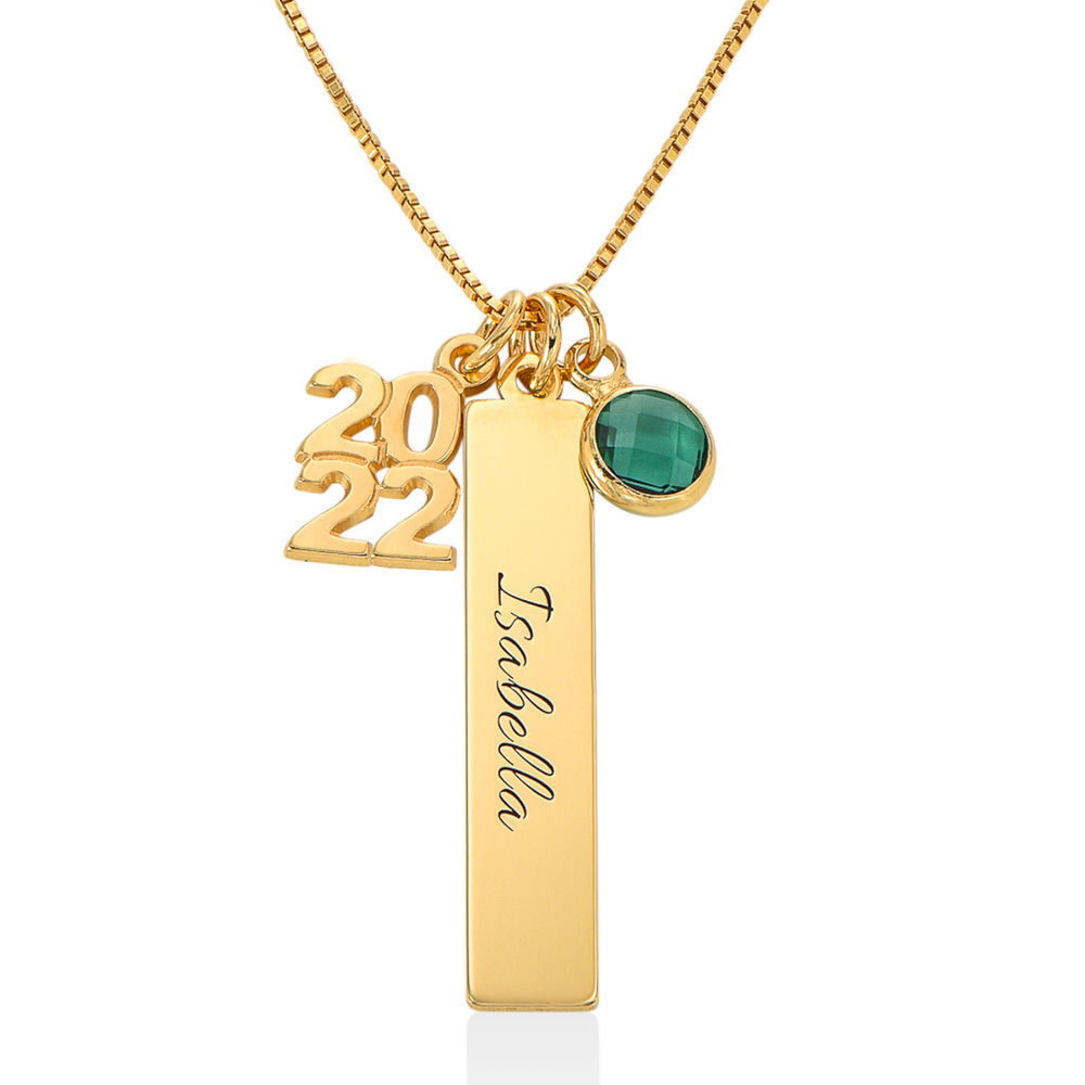 Personalized Charms Graduation Necklace in Gold Plating