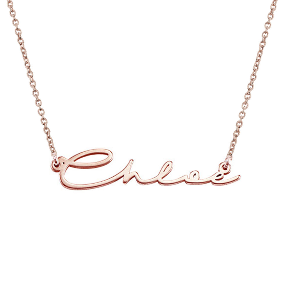 Signature Style Name Necklace in Rose Gold Plating - 3
