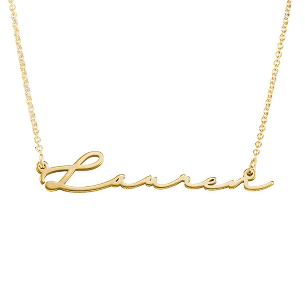Signature Style Name Necklace in 18k Gold Vermeil - 1