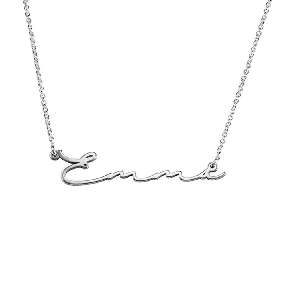 940 Premium Silver Signature Style Name Necklace