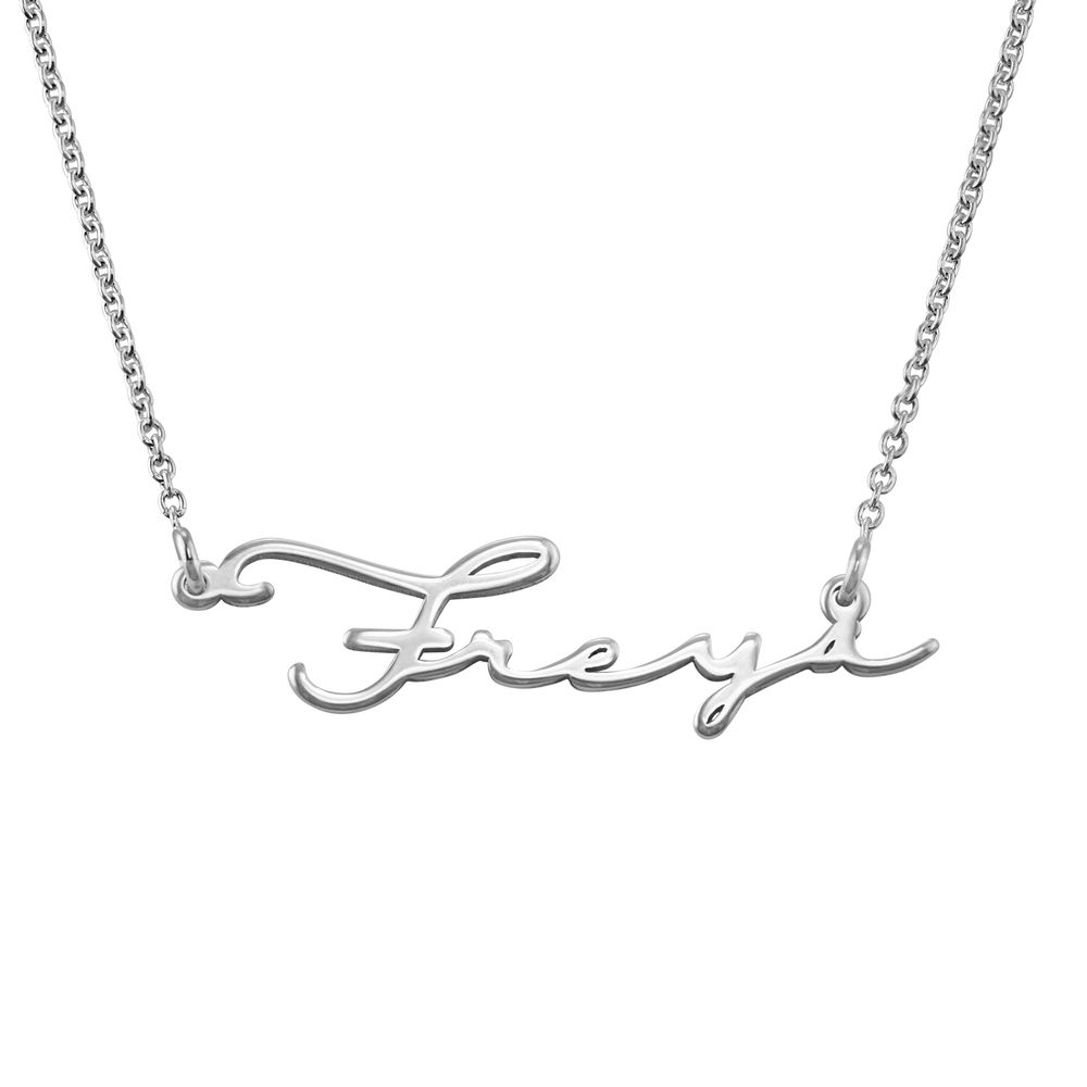 940 Premium Silver Signature Style Name Necklace - 1