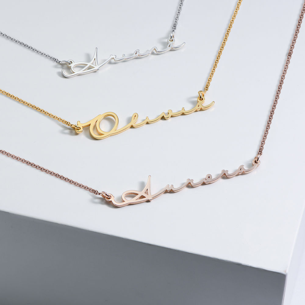 940 Premium Silver Signature Style Name Necklace - 2