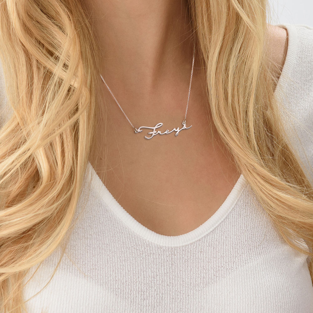 940 Premium Silver Signature Style Name Necklace - 4