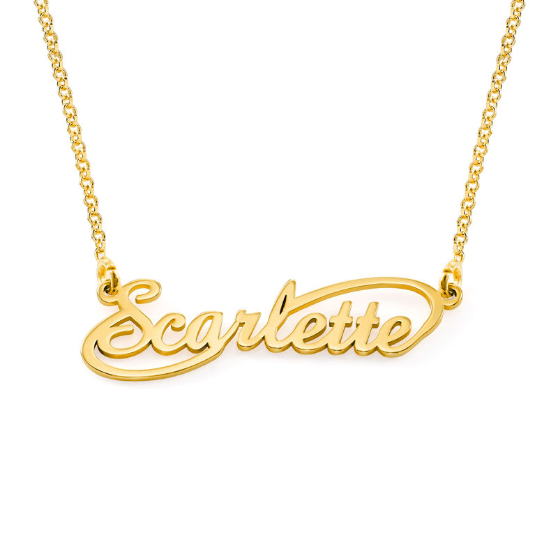 Infinity Style Name Necklace in 18k Gold Vermeil