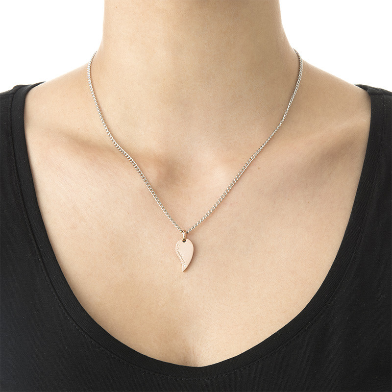 2 Piece Heart Necklace Set for Couples - 2