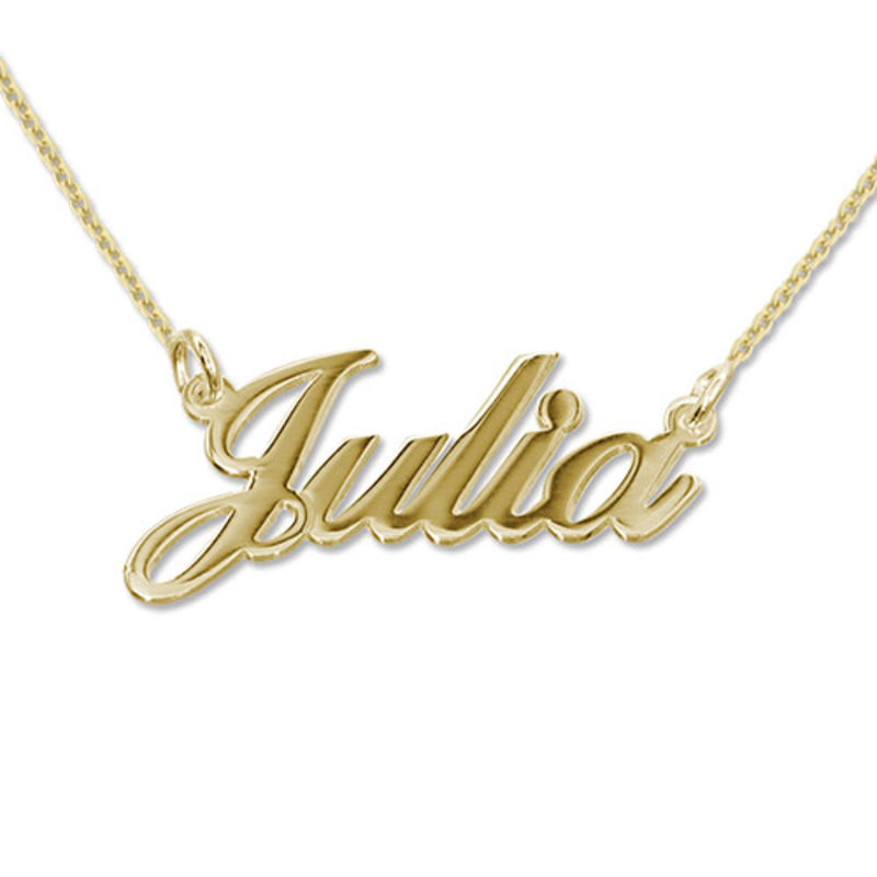 Small Classic Name Necklace in 10k Gold Plated Sterling Silver