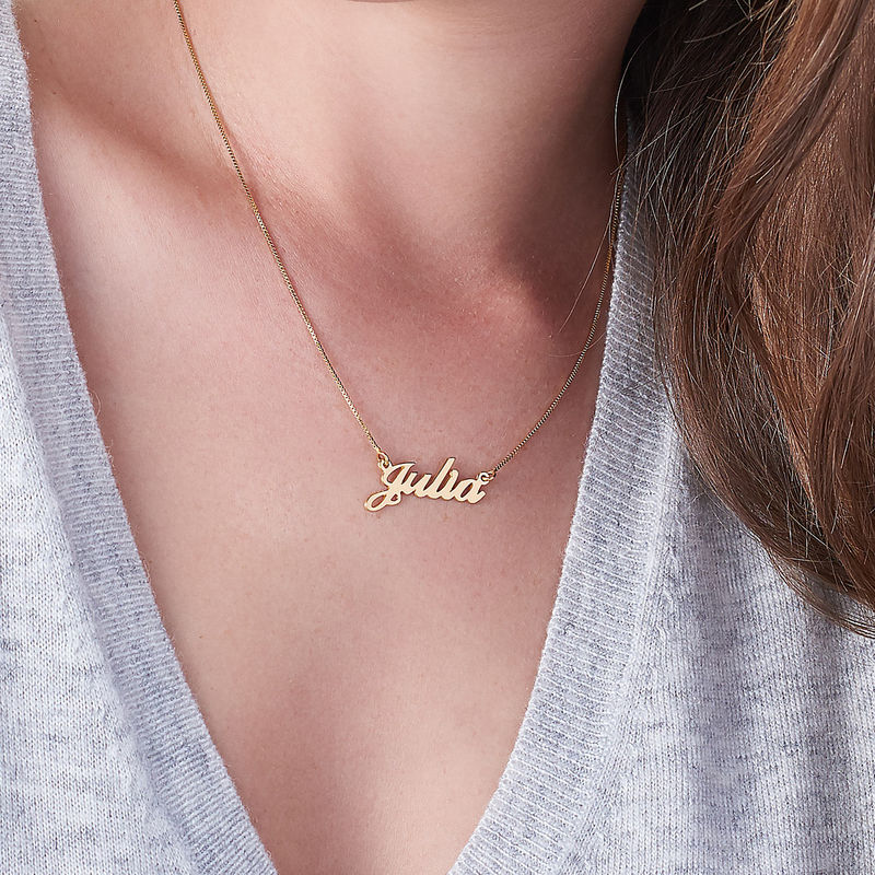 Small Classic Name Necklace in 10k Gold Plated Sterling Silver - 2
