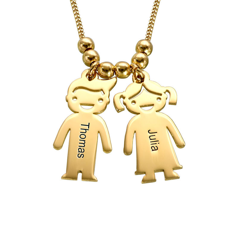 Gold Vermeil Mother's Necklace with Children Charms