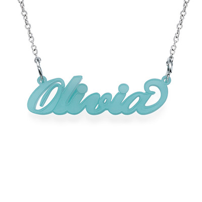 Classic Carrie Style Acrylic Name Necklace - 1