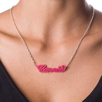 Classic Carrie Style Acrylic Name Necklace - 2