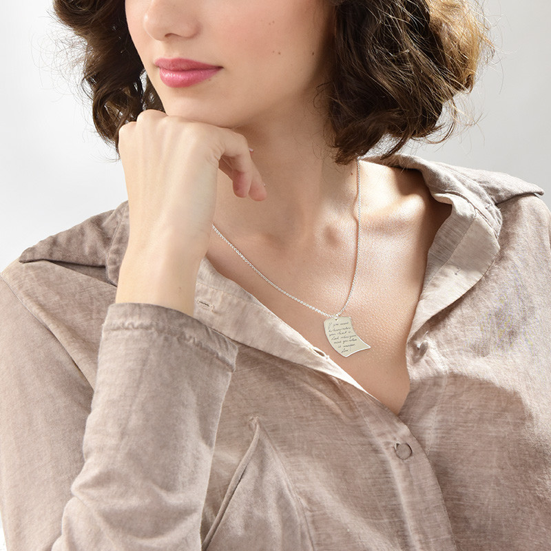 Handwriting Necklace - Note Shaped - 2