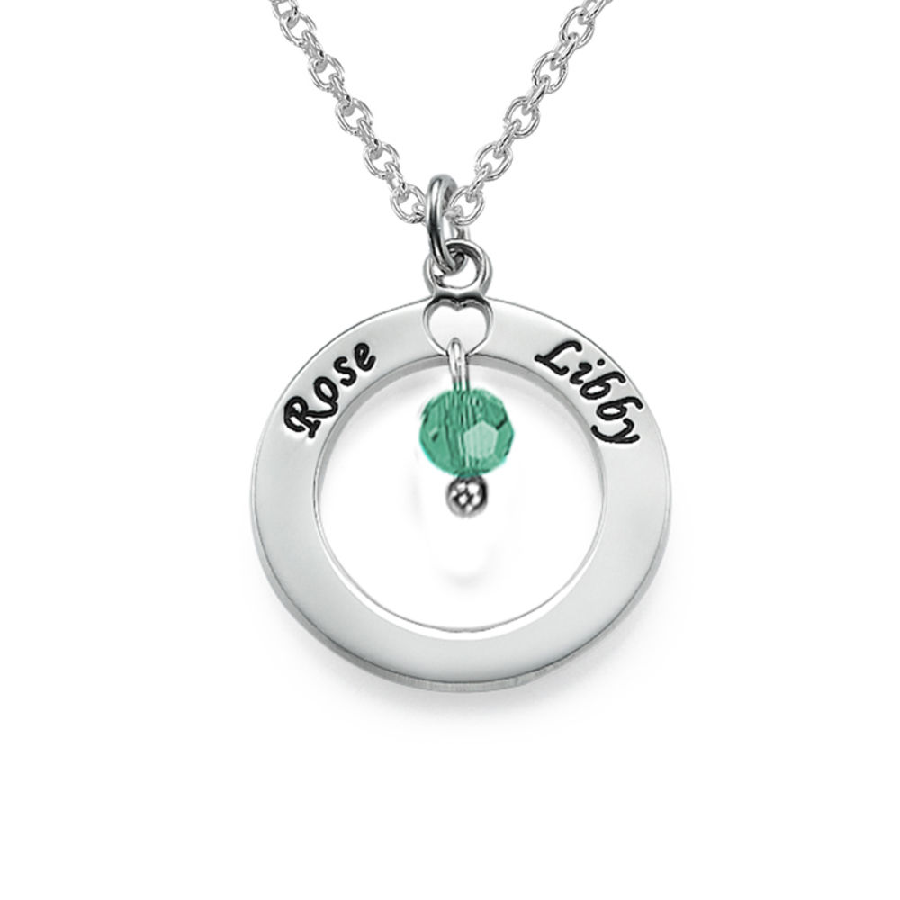 Personalized Necklace for Mothers with Birthstones - 1