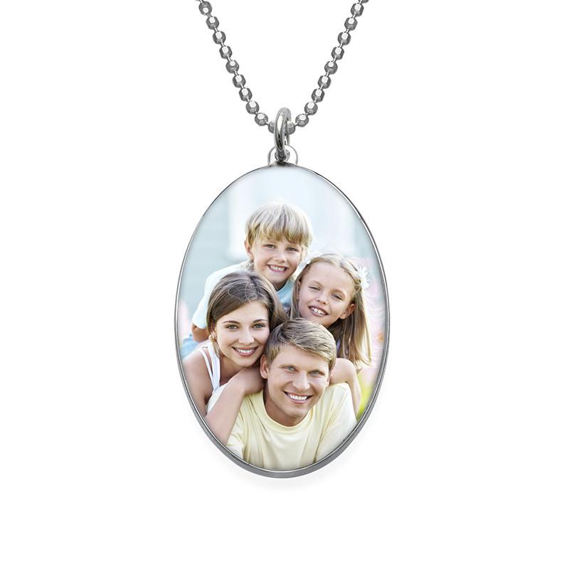 Oval Photo Necklace