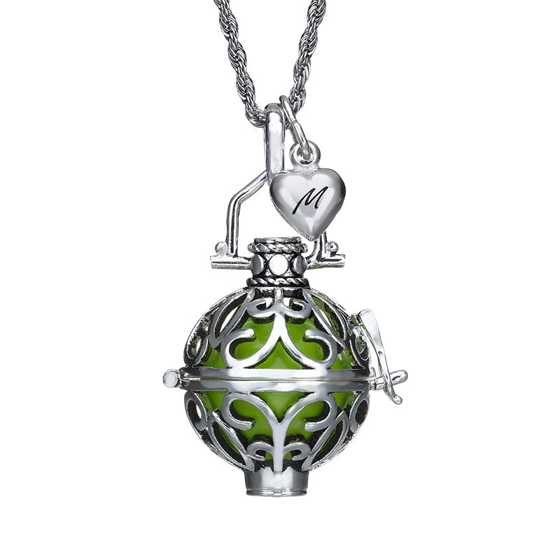 Engraved Charm Harmony Ball Necklace