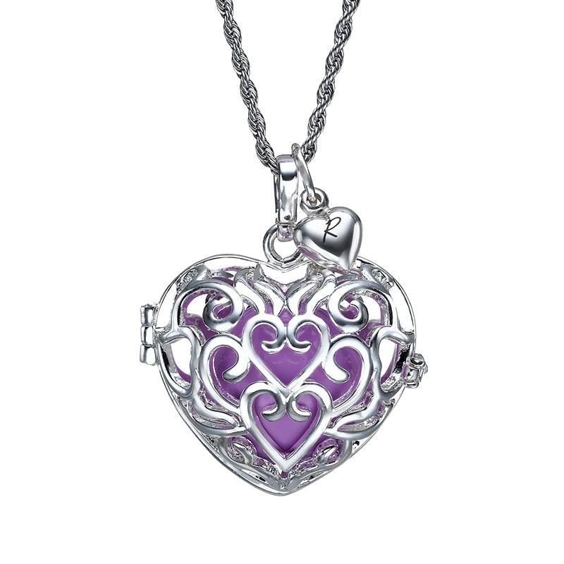 Heart Shaped Harmony Ball Necklace