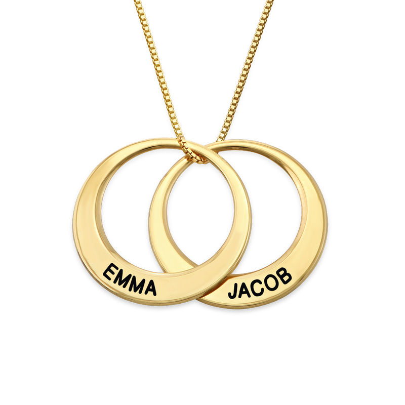 Multiple Ring Necklace in Gold Plating - 2