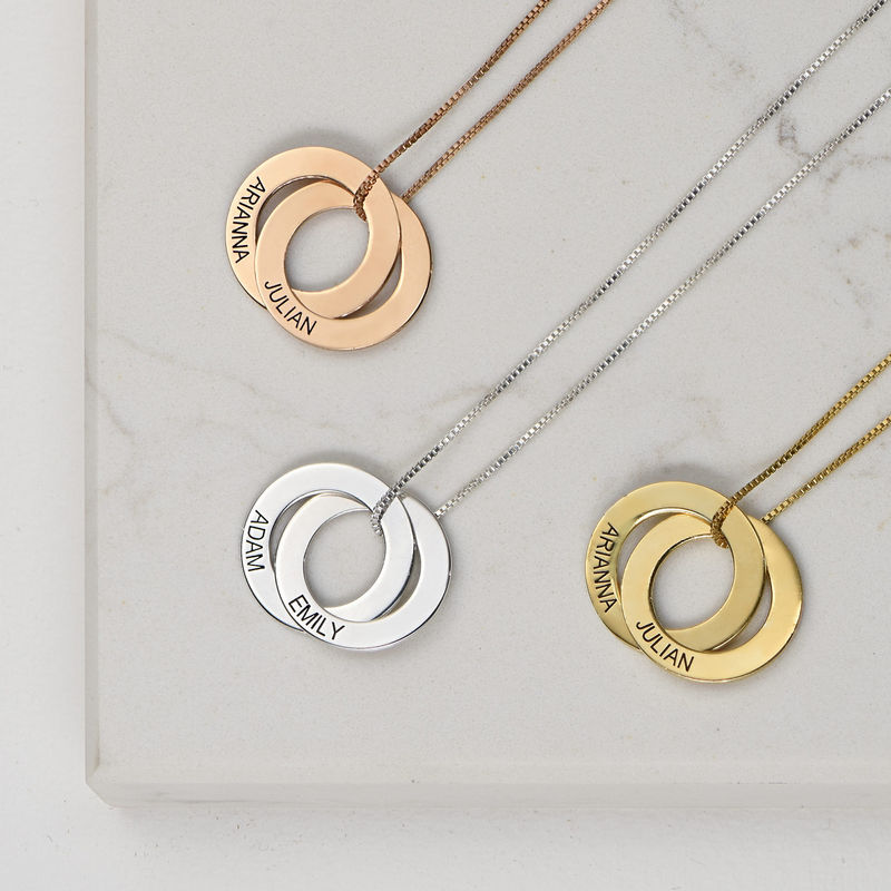 Russian Ring Necklace with 2 Rings in 940 Premium Silver - 2