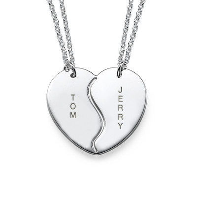 Personalized Best Friends Necklaces in Silver - 3