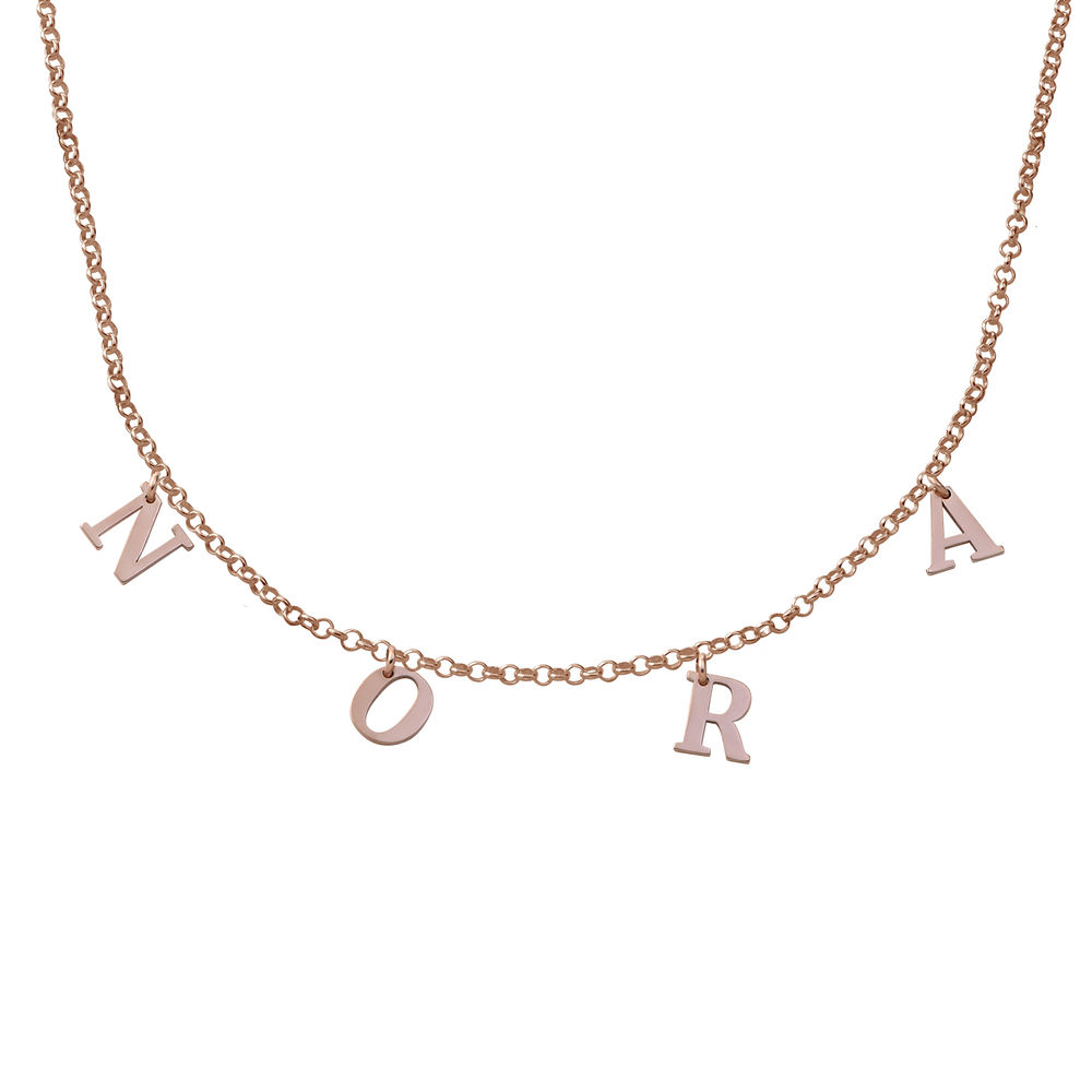 Name Choker in 18K Rose Gold Plating