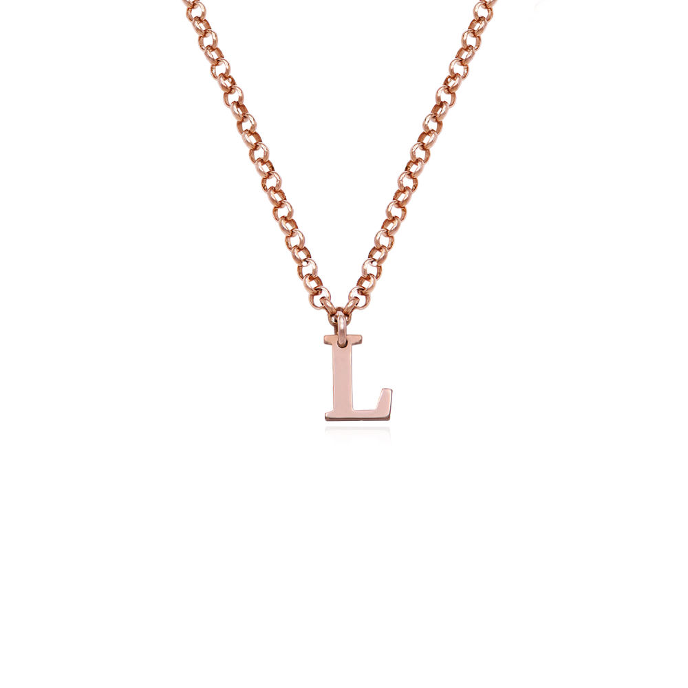 Name Choker in 18K Rose Gold Plating - 1