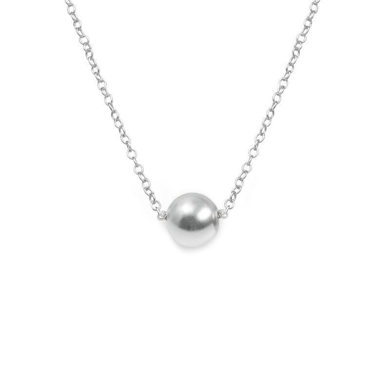Ball Pendant Necklace in Steling Silver