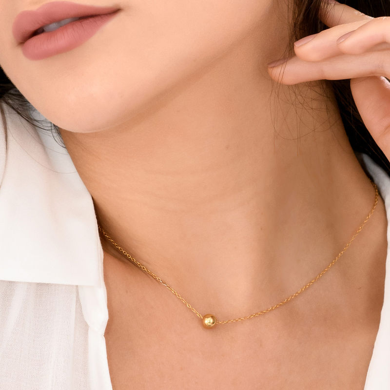 Ball Pendant Necklace in Gold Plating - 1