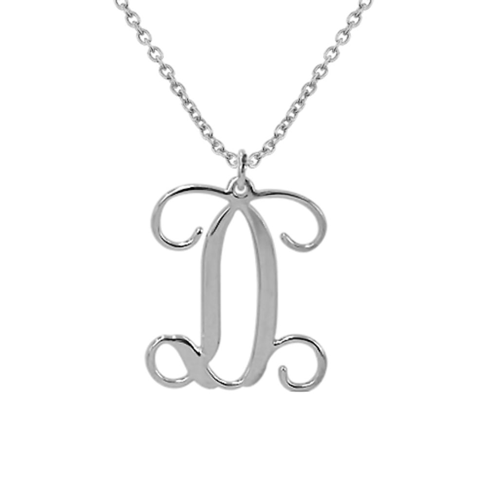 Sterling Silver Monogram Necklace - 1