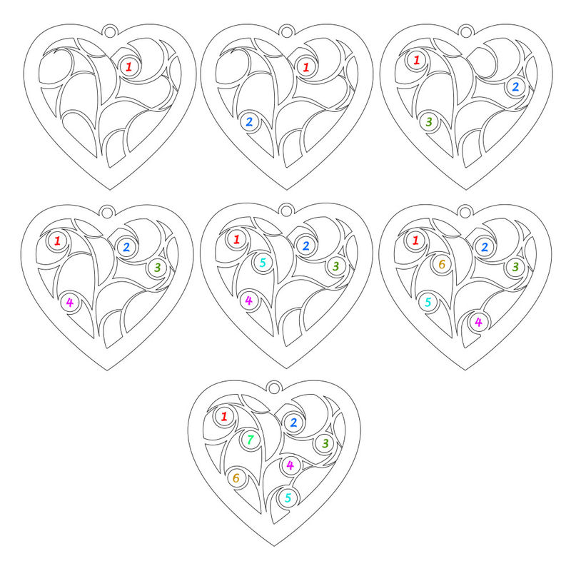 Heart Family Tree Necklace with Diamonds in Rose Gold Plating - 3