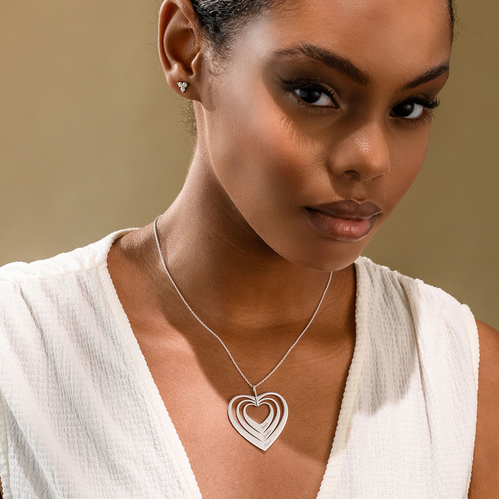 Family Hearts necklace in White Gold - 2