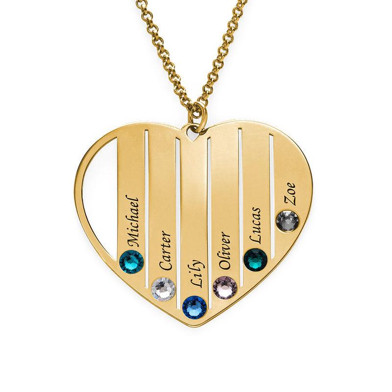 Mom Birthstone Necklace in 18K Gold Vermeil - 1