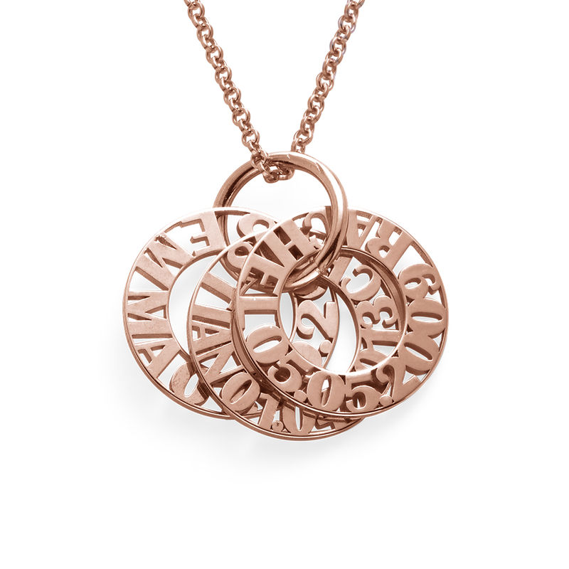 Personalized Mother Necklace in Rose Gold Plating