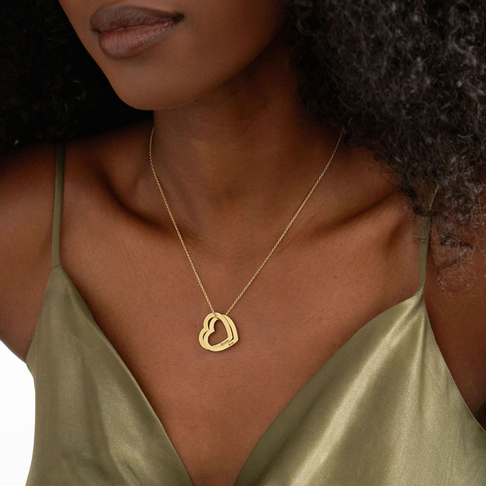 Interlocking Hearts Necklace with 18K Gold Vermeil - 2