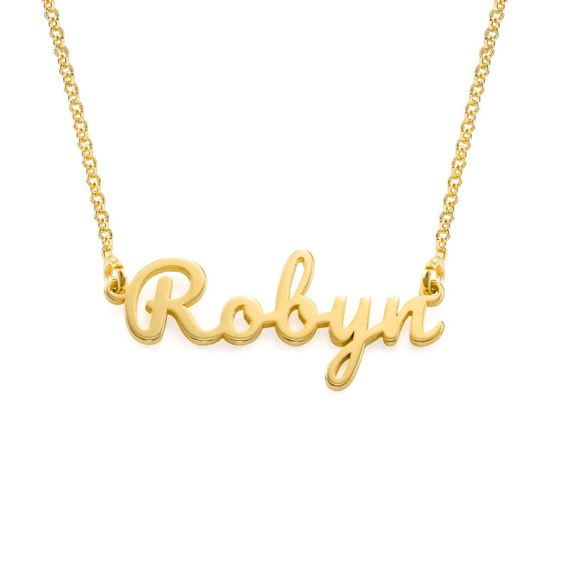 Script name Necklace with in Gold Vermeil