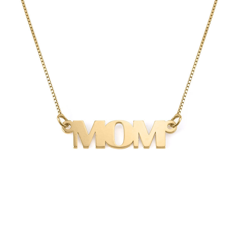 Capital Letters Name Necklace with 10K Gold - 1