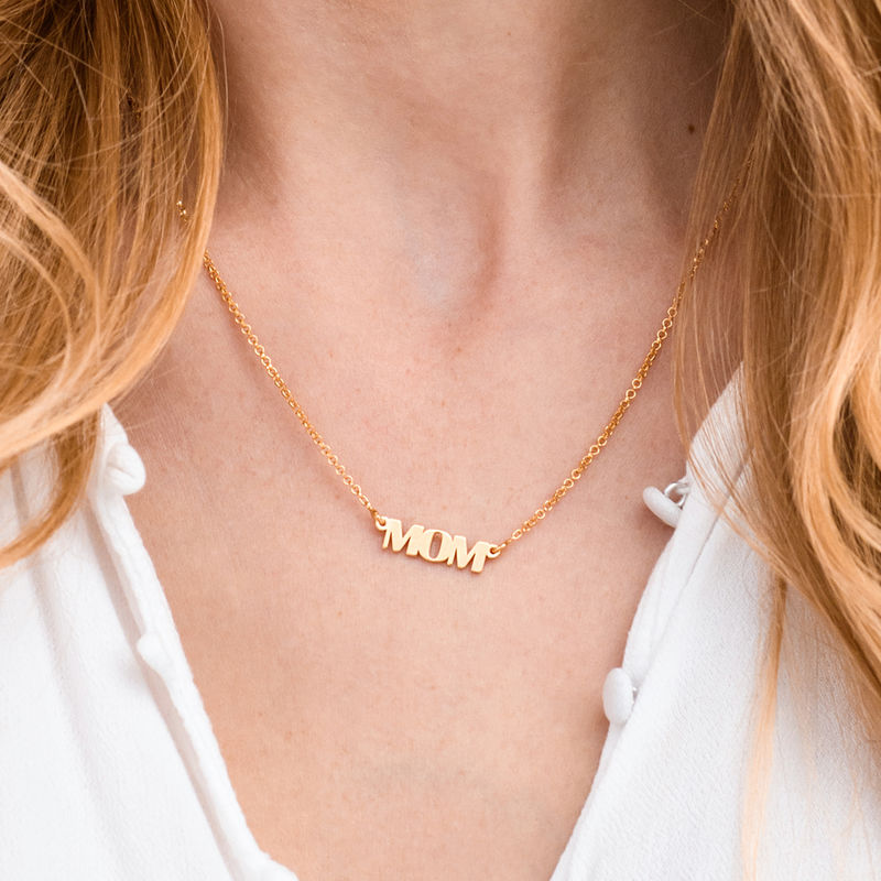 Capital Letters Name Necklace with 10K Gold - 3