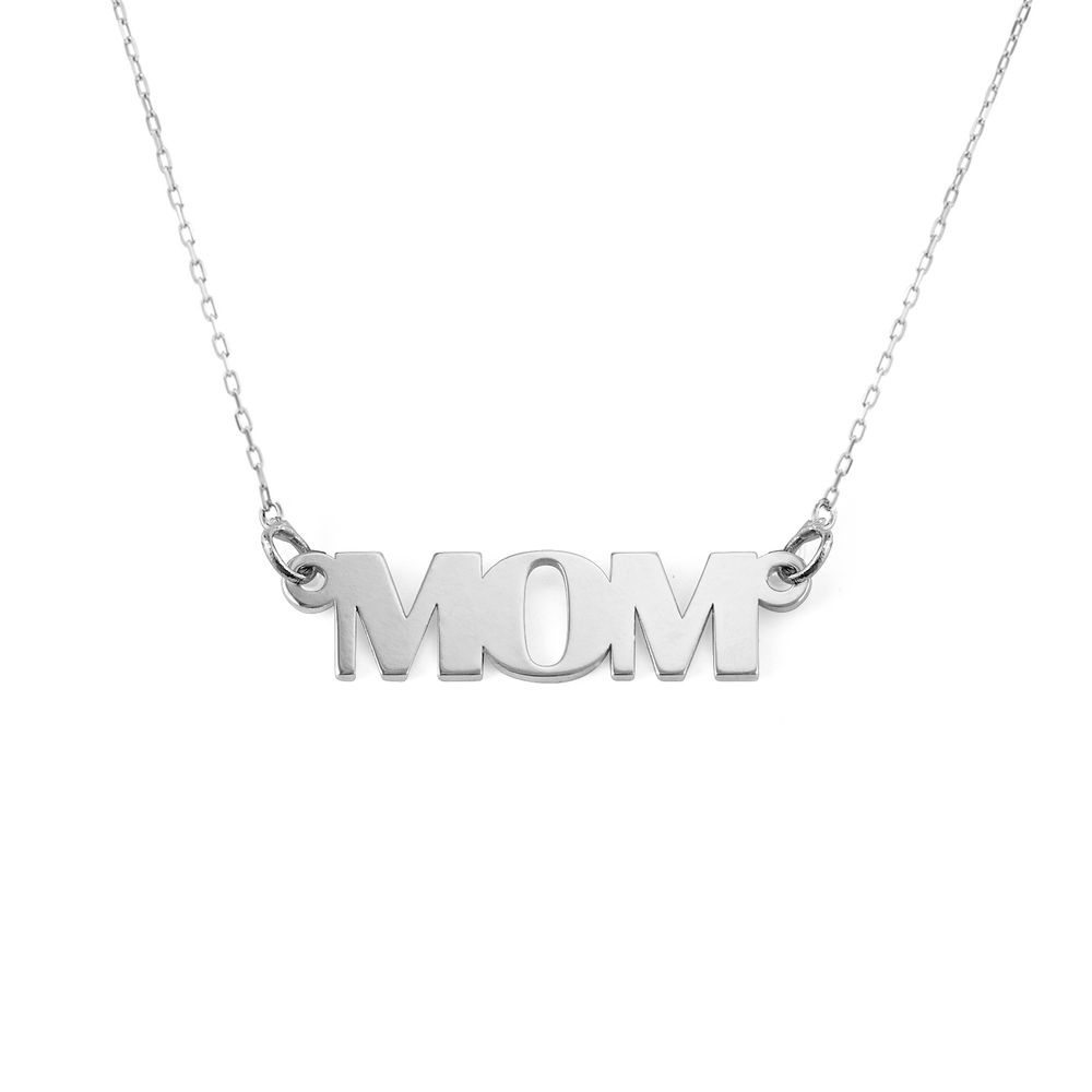 Capital Letters Name Necklace with 10K White Gold