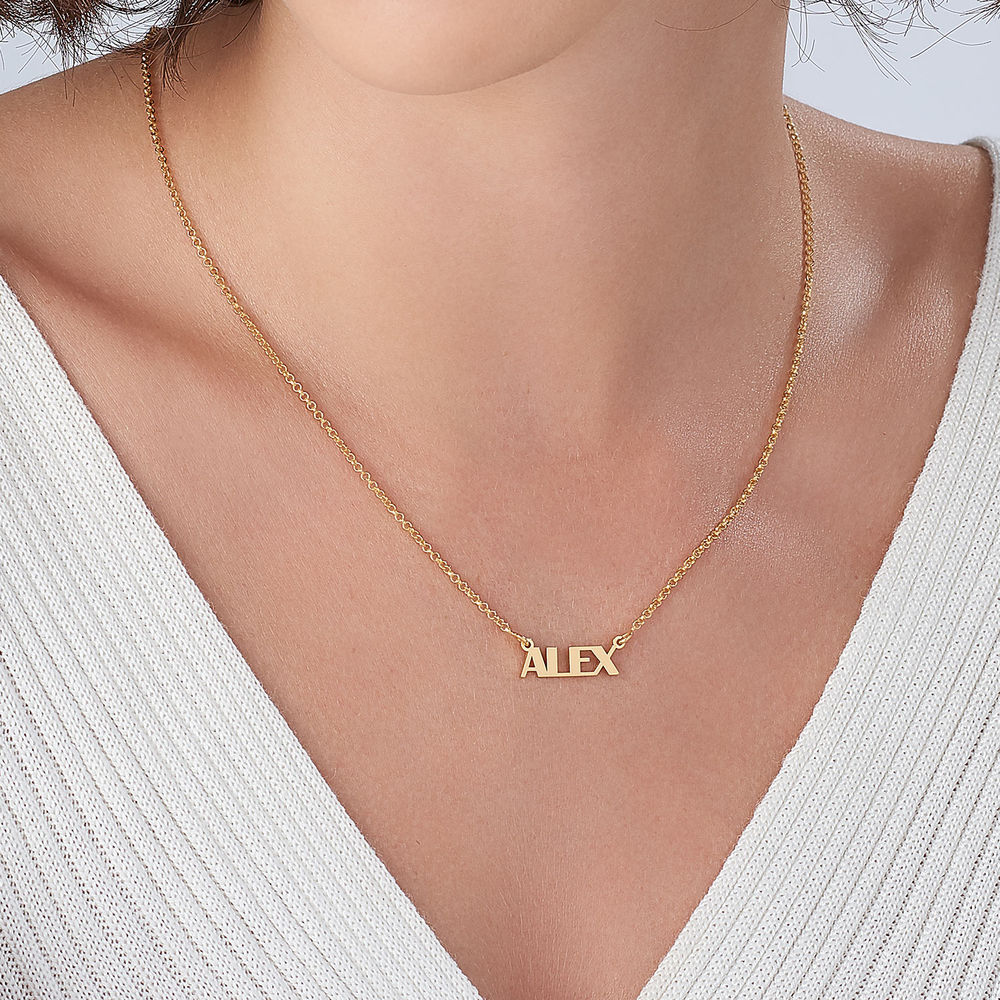 Capital Letters Name Necklace with 18K Gold Vermeil - 2