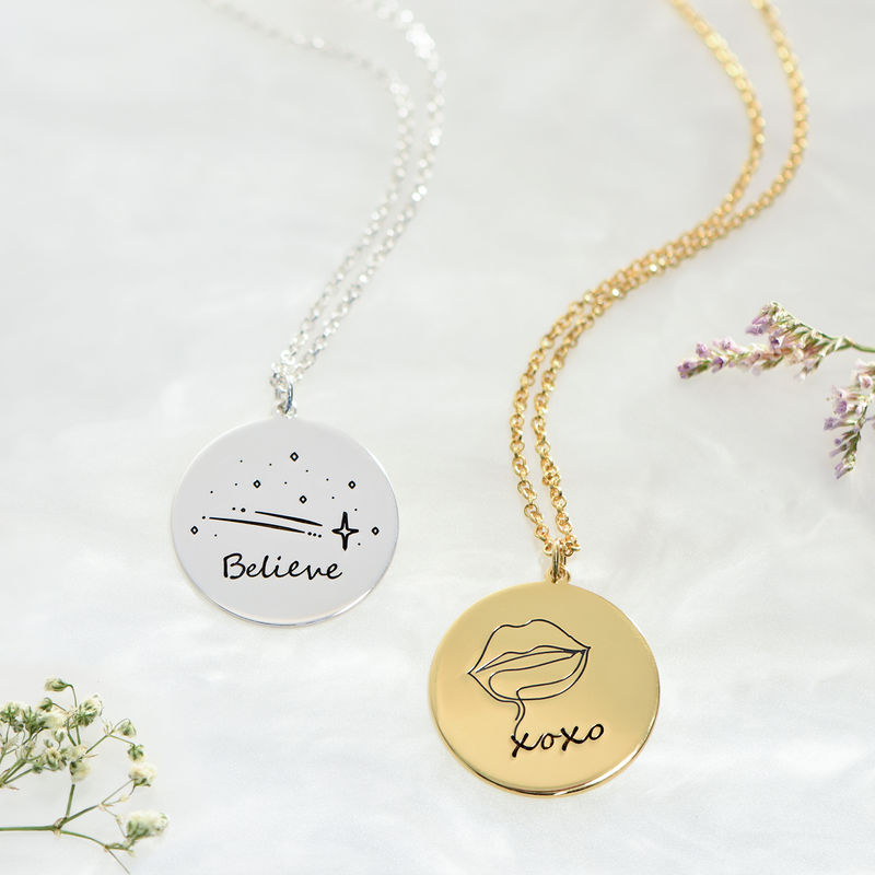 Inspirational Necklace In Gold Plating - 4