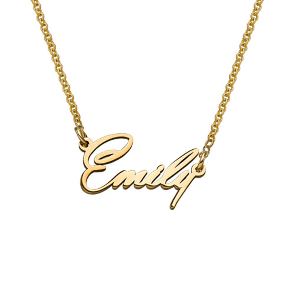 18K Gold Plated Tiny Name Necklace in Extra Strength for Teenagers