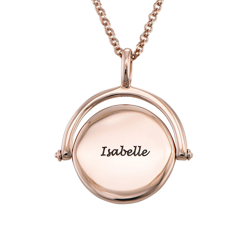 Spinning Infinity  Pendant Necklace in Rose Gold Plating - 1