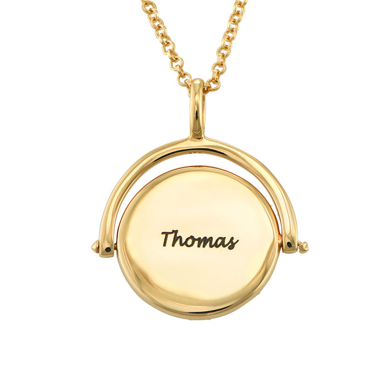 Spinning Engraved Necklace in Gold Plating