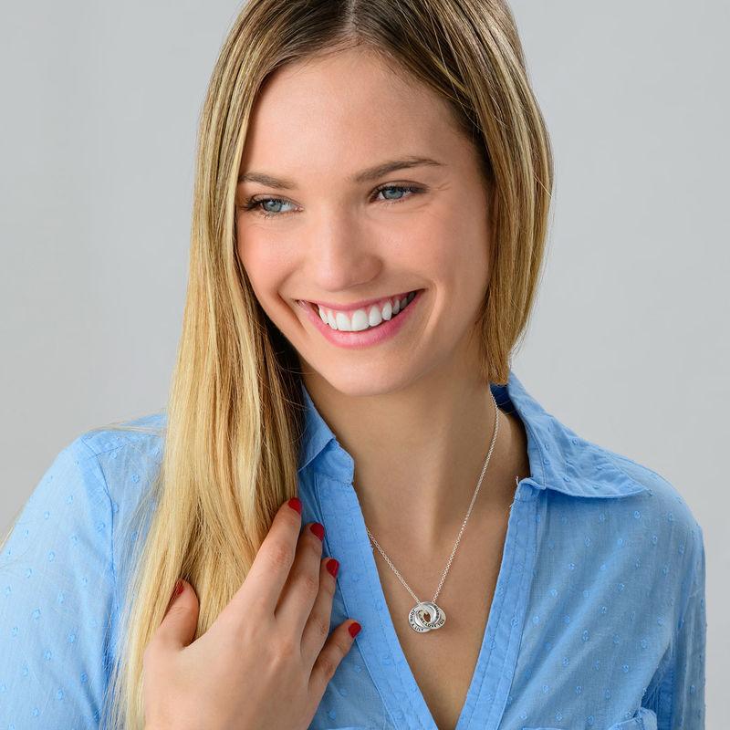 Russian Ring Necklace in Silver - Mini Design - 1