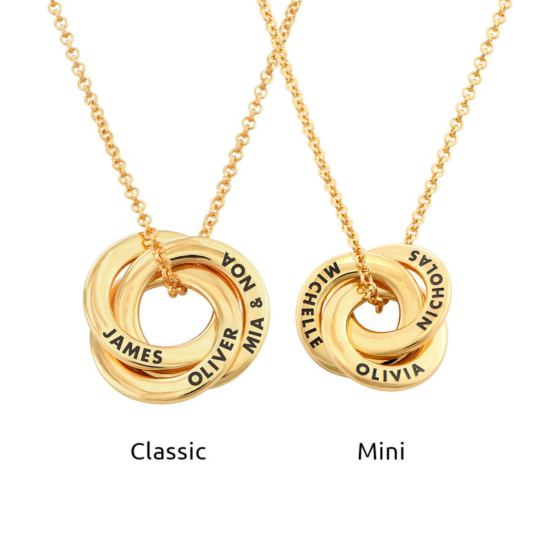 Russian Ring Necklace in Gold Plating - Mini Design - 3