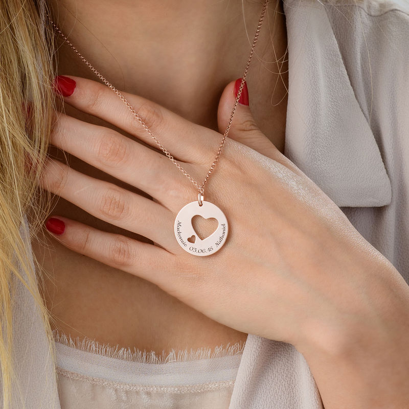 Love Circle in Rose Gold Plating - 2