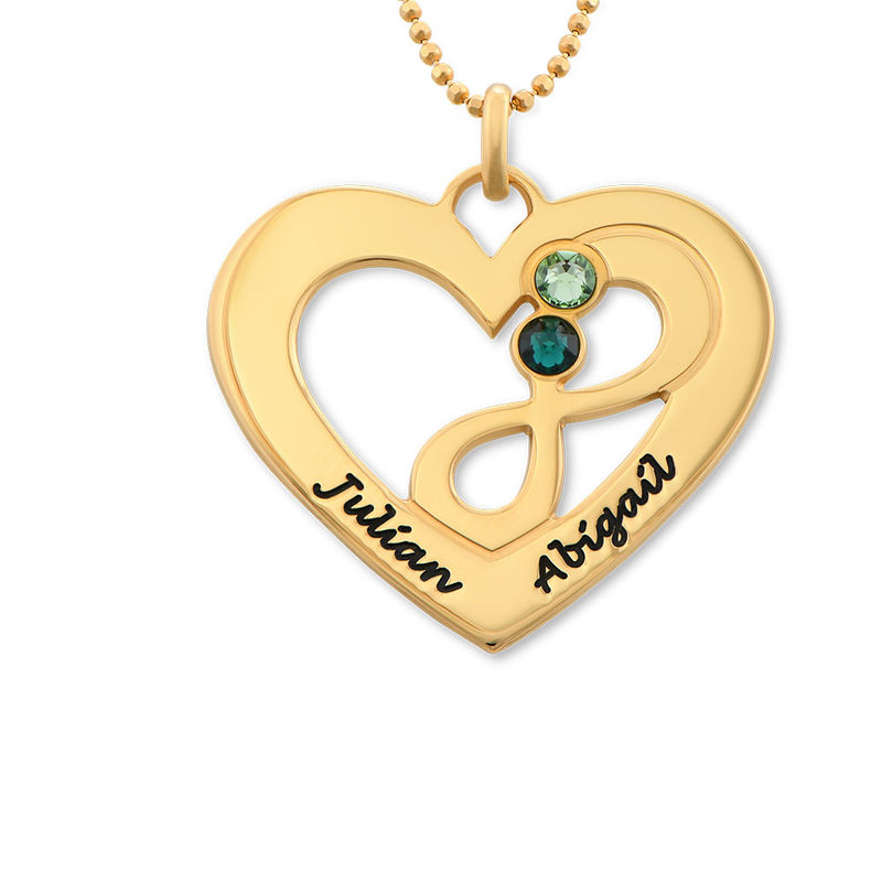 Heart Infinity Necklace in Gold Plating