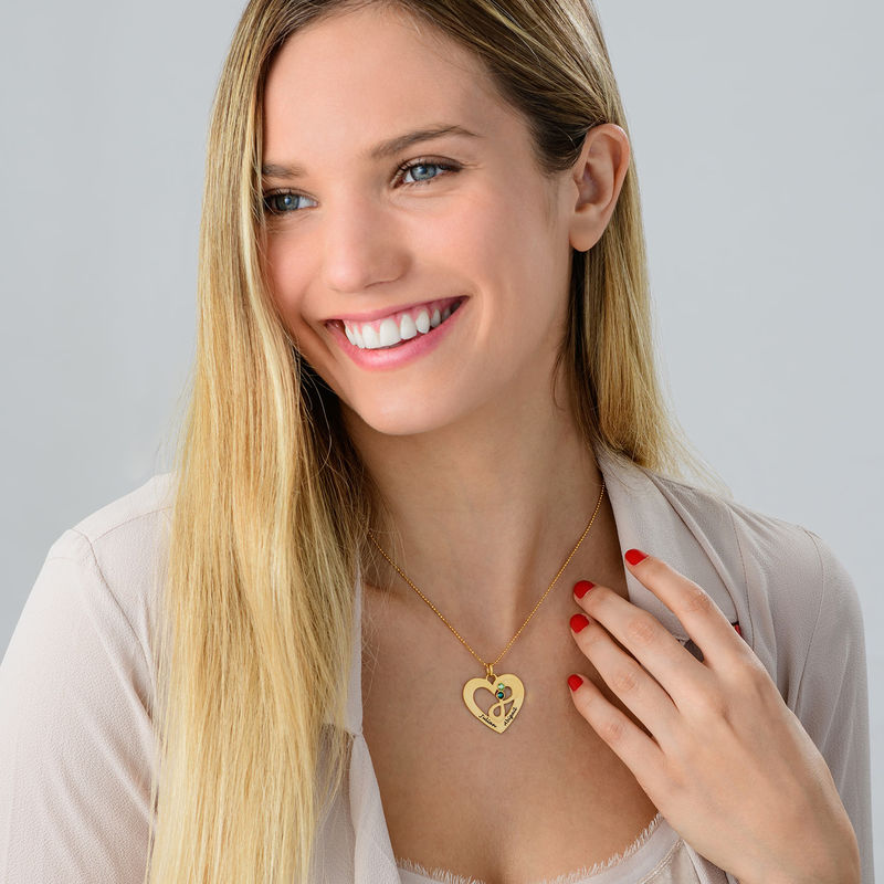 Heart Infinity Necklace in Gold Plating - 2